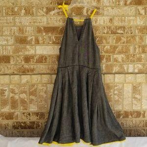 Eva Franco Dresses - Eva Franco Anthropologie Blue Yellow Dress Size 10